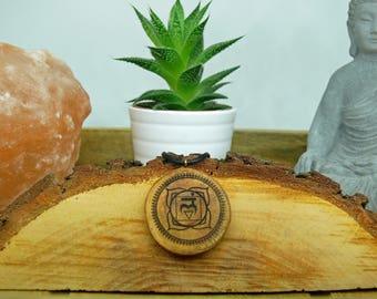 "Soul slices ""Muladhara-root Chakra"" Wood chain, first chakra//yoga//Vintage//Ethnoschmuck//Hippie//BOHO//Statement//"