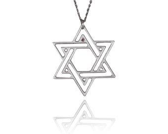 Jewish star necklace star of david necklace jewish symbol necklace star of david necklace davids star necklace jewish sign necklace