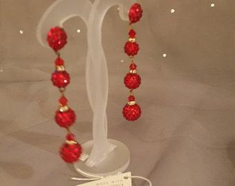 Swarovski Glamour earrings - Dita  Red Siam