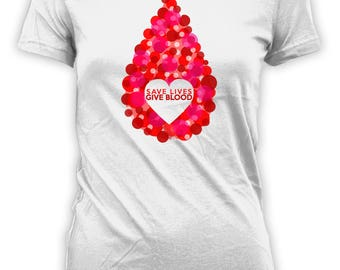 Save Lives Give Blood T Shirt Gifts for Blood Donation Its In You To Give TST-85010
