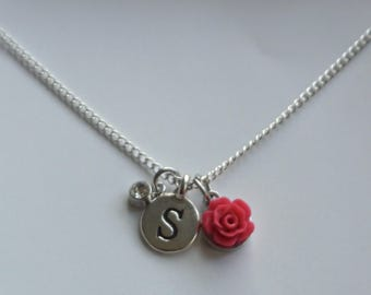 Flower girl necklace, Flower girl gift, Wedding party gift, Childrens necklace, Personalized necklace, inexpensive gift, delicate necklace,