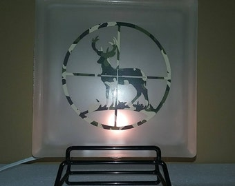 Lighted glass block