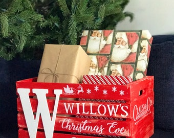Personalized Christmas Eve Crates