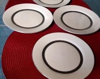 Farberware Bride Imperial Platinum Dessert Plates/ Set Of Four