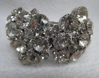 Vintage Rhinestone Cuff Bracelet
