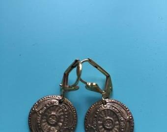 Art Deco Brass Earrings / Vintage Dangle Earrings / Gold Earrings / Statement Earrings / Gift for Her / Gift Wrapped / Bridal Earrings