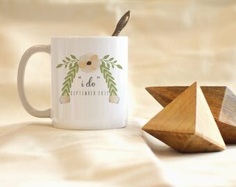 I Do Mug, Wedding Mug, Custom Wedding Date mug, Custom Mug, Bridal Shower Gifts, Wedding Favors, Wedding Gifts