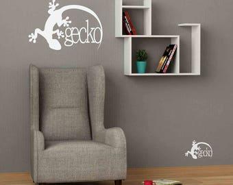 Gecko - Wall stickers, wall decals, wall art, wall decor, gecko stickers, gecko decals, gecko pictures, gecko wall decor, big stickers