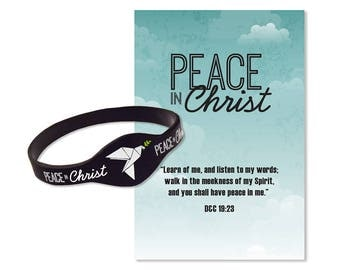 Peace In Christ Silicone Bracelet D&C 19:23 LDS Mutual Theme for 2018