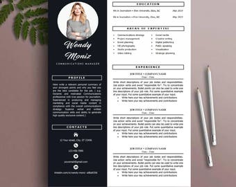 Resume Template, CV Template, Instant Download, MS Word  Cv Templates
