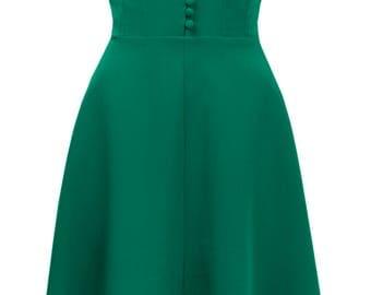 1940s Hostess Dress in Emerald