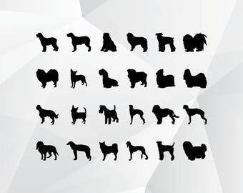 24 Dog svg,png,jpg,eps/Dog clipart for Print,Design,Silhouette,Cricut and any more