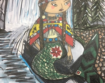 Native American River mermaid