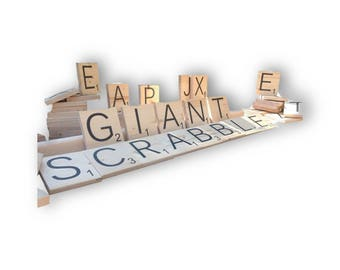 Giant Letters - Outdoor Word Game - Yard Tiles - Lifesize Word Tiles - Wedding Games - Tailgate Games - Party Games | Family Game Night