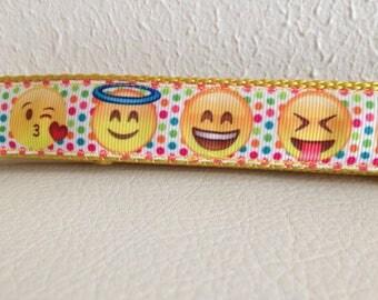 Adjustable Dog Leash, Emoji Adjustable Dog Leash, Cute Emoji Dog Leash, Emoji Dog Leash