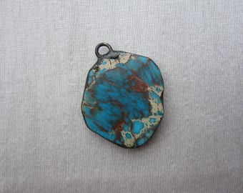 Hand Soldered Large Stone Pendant