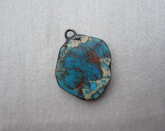 Hand Soldered Large Stone Pendant