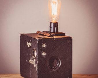 Vintage Brownie Camera Lamp