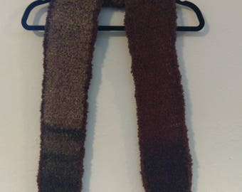 Earth-tone Scarf -- Warm and fuzzy!