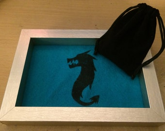Hand-Painted Dragon Dice Tray (w/ Dice)