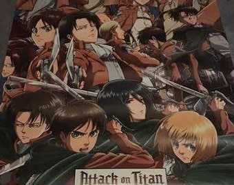 Attack On Titan Poster (BRAND NEW) Not Opened As Seen In Photo