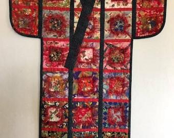 Mosaic #5: Kimono (Fiber Art)