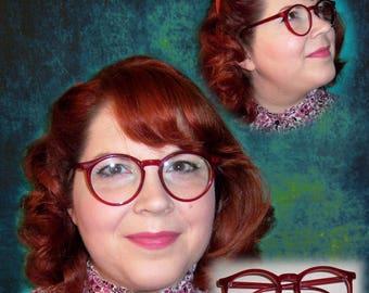 Vintage 80's 90's Eyeglasses Frames Reading Glasses Red