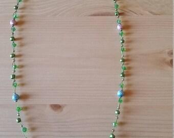 Pastel coloured flower necklace