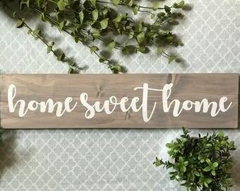 Home Sweet Home Sign, Home Sweet Home Wood Sign, Home Sweet Home Wooden Sign, Home Sweet Home, Wooden Home Sign, Wood Home Sign, Home Sign