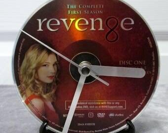 Revenge DVD Clock Upcycled TV Show - Emily