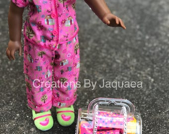 Doll suitcase for 18 inch Doll, 14 inch doll, American Girl