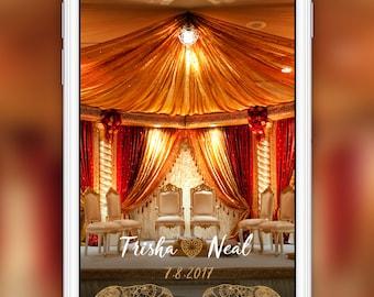 Indian Wedding Elephant Design Snapchat Geofilter: Desi Shaadi | 4 Hour Turnaround Time | Custom Options Available | SKU# TLNLWF01