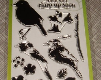"""Hero Arts- Clear Stamps - """"Bird and Branch"""""""