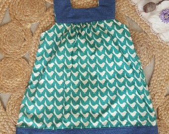 Sweet little Birdy Pinafore Dress
