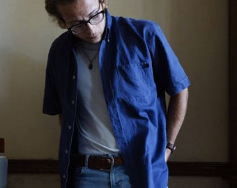 Shirt Vintage Marlboro blue Indigo