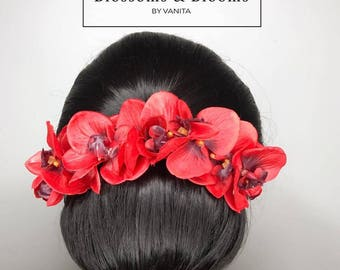 Bridal Orchid Hair Flowers