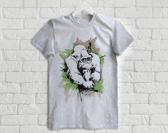 Harambe Shirt With Harambe T Shirt Gorilla Tee For Men Tshirt Animal Shirt Zoo Tee Haramba Shirt Monkey Tshirt For Man Tee Save Harambe Tee