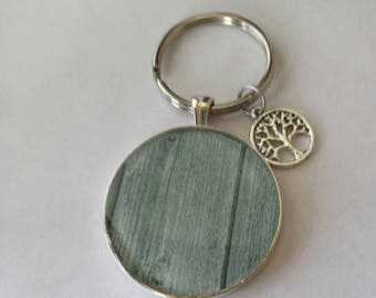 Keychain old reclaimed barn wood