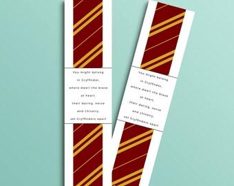Gryffindor bookmark (Harry Potter inspired)