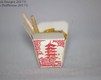 1:12 Scale Dollhouse Miniature Chinese Takeout