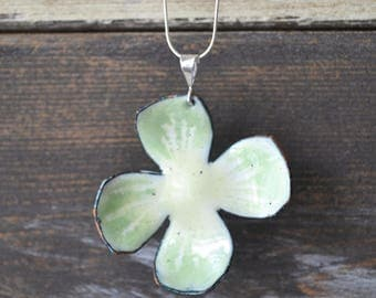 Green and Yellow Enamel Flower