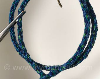 Kumihimo Rope Wrap Bracelet with Dragonfly Charm