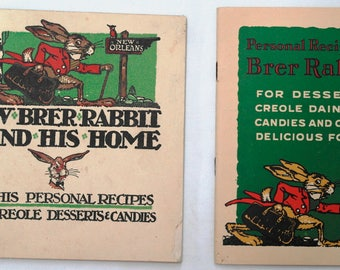 2 Recipe Booklets With Stories for Brer Rabbit Molasses
