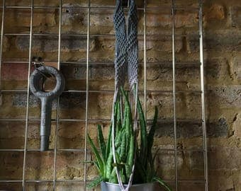 Charcoal ombre Plant Hanger with macrame detail