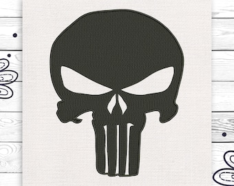 Punisher design Skull pattern Discount 10% Embroidery design 4 sizes INSTANT DOWNLOAD EE5035