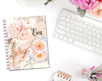 Sweet Peony Monogram Planner Cover Erin Condren Life Planner Recollections A5 B6 Personal Pocket Dashboard Happy Planner