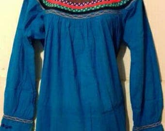 NEW ITEM! Mexican blouse hand embroidered
