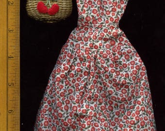 Vintage Circa 1989 BillyBoy Mdvanii Doll Collectors United promo Dress and a straw basket