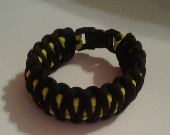 Paracord bracelets - Black and Yellow