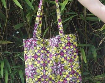 Tote bag in WAX / inside pocket / Zero waste